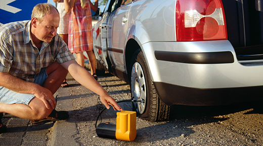 Tyre compressor for driving in Europe (c) Newspress
