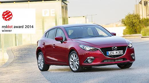 New Mazda 3 bags Red Dot Design Award
