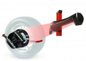 HawkEye camera and wheel alignment sensors