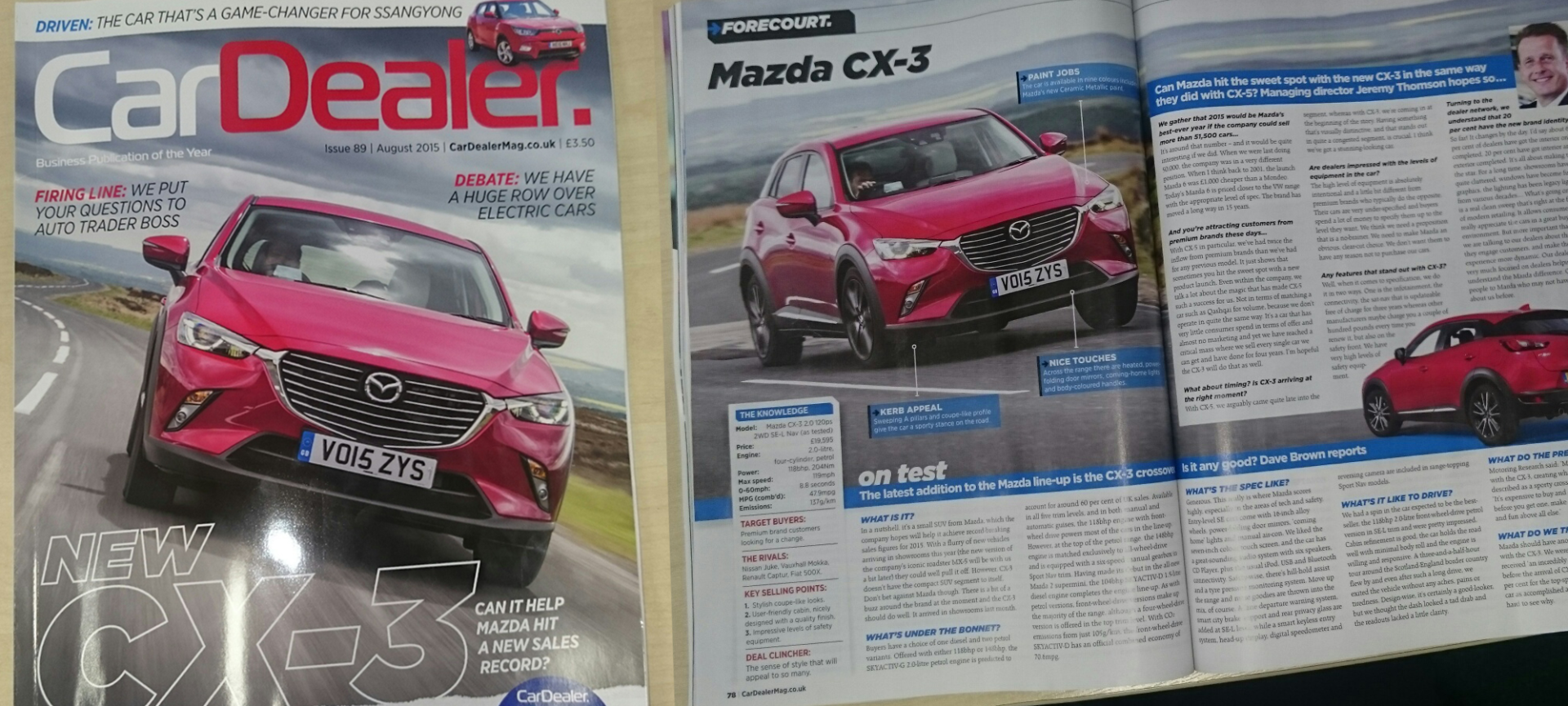 Mazda CX-3 review by Car Dealer Magazine