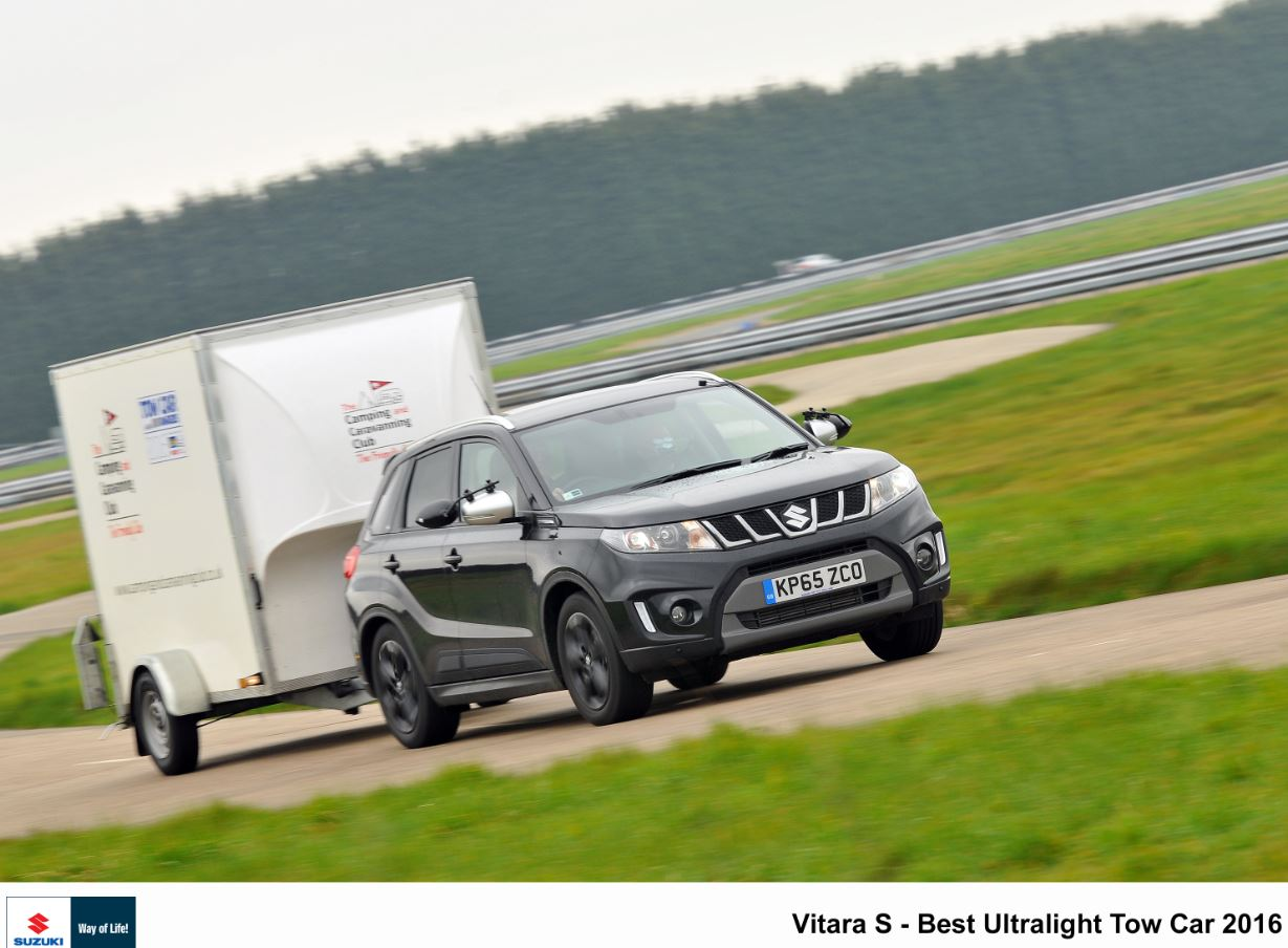 Suzuki Vitara Boosterjet wins best ultralight tow Car 2016.2 T W White & Sons