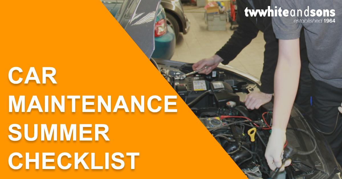 Car Maintenance Summer Checklist – Infographic