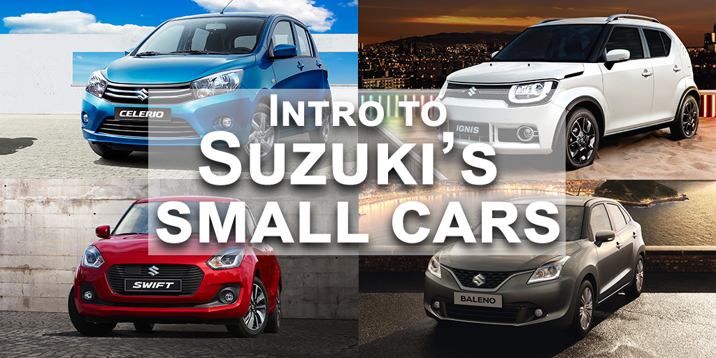 Intro to Suzuki's Small Car Range