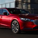 2018 Mazda 6 tourer soul red side moving 2