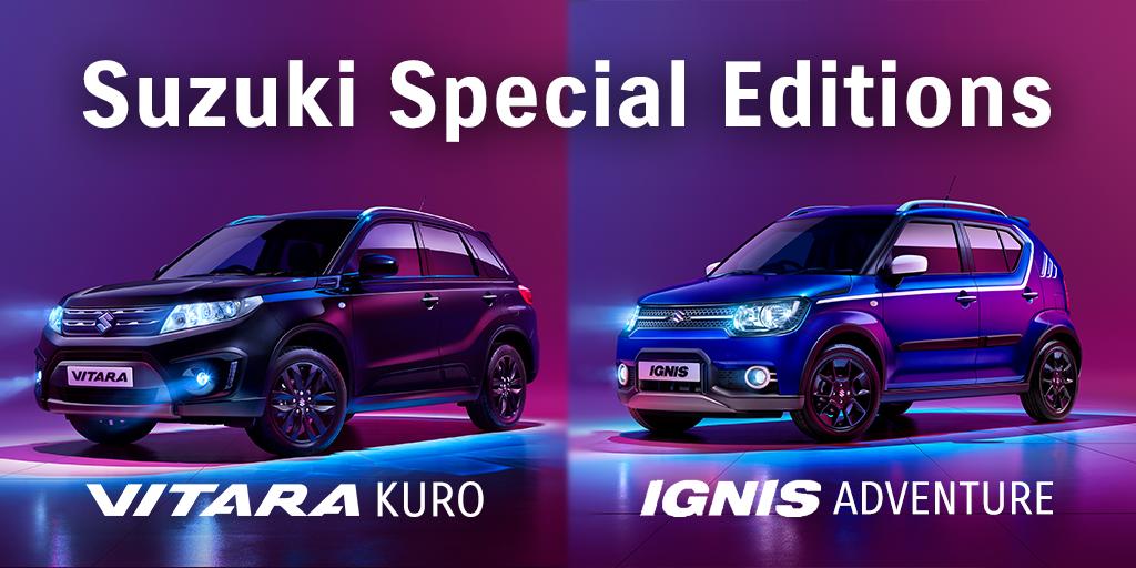 Suzuki Vitara Kuro and Ignis Adventure special edition cars available