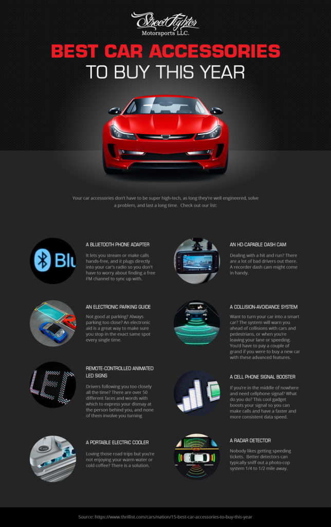 Car accessories you actually need infographic