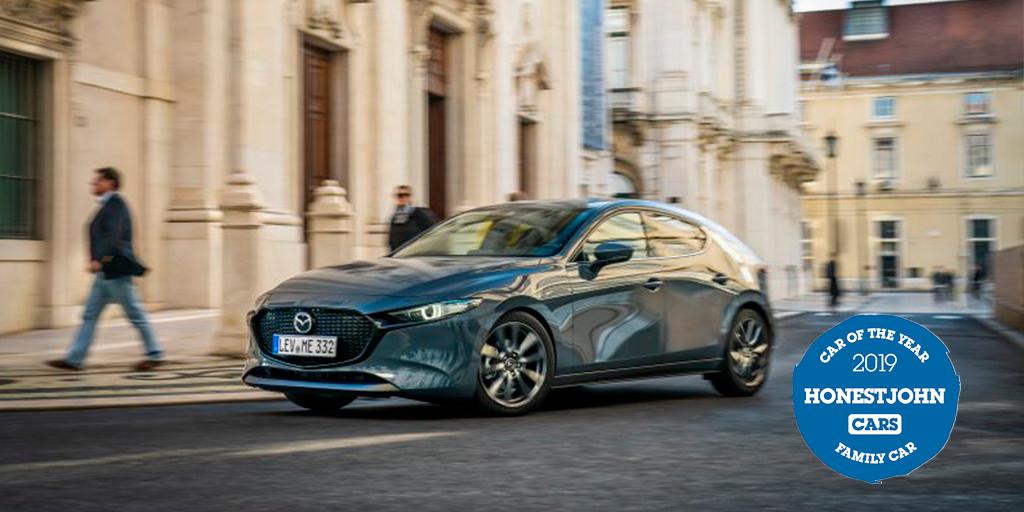 All-new Mazda 3 wins Honest John 2019 Car of the Year Award