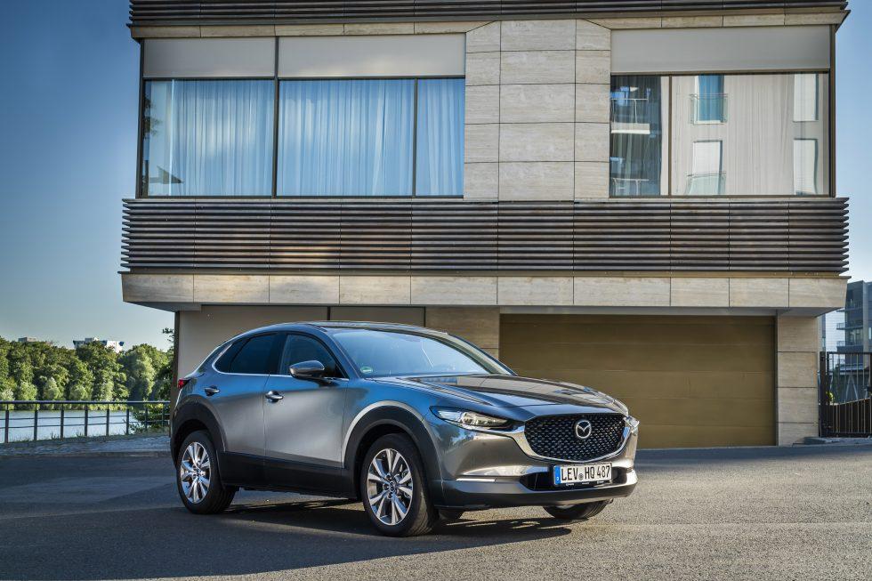 Mazda CX-30 Polymetal Grey front exterior