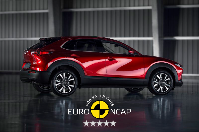 CX-30 receives near perfect score in Euro-NCAP safety test