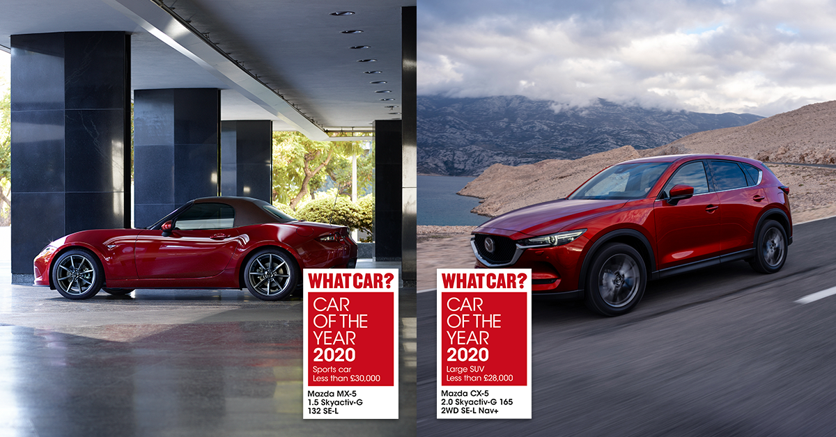 Double win for Mazda at 2020 WhatCar? Car of the Year Awards
