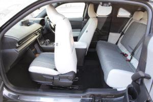 Mazda MX-30 freestyle doors and light grey cloth seats
