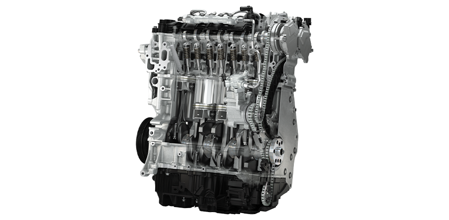 An example of a Mazda3 engine which is Euro6 compliant